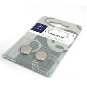 Details about Genuine Mercedes-Benz Benz Remote Key Fob Battery pack of 2  CR2025 A0008280388