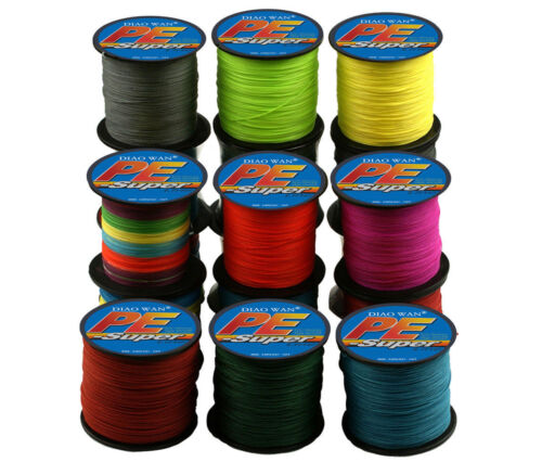 2019 300/500 M Super Strong Green PE Braided Fishing Line Multifilament PE Lines