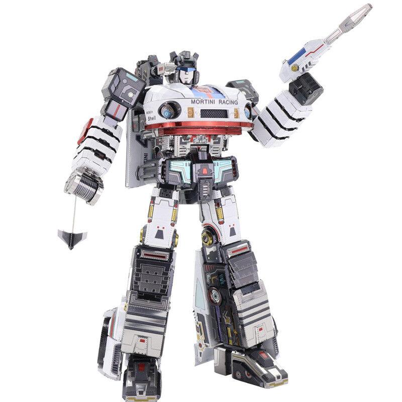 MU Transformers Jazz G1 DIY 3D Metal Model Kits DIY Assemble Puzzle Jigsaw  Toys