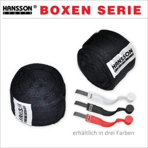 HANSSON Profi Boxen Boxbandage 100/% Baumwolle