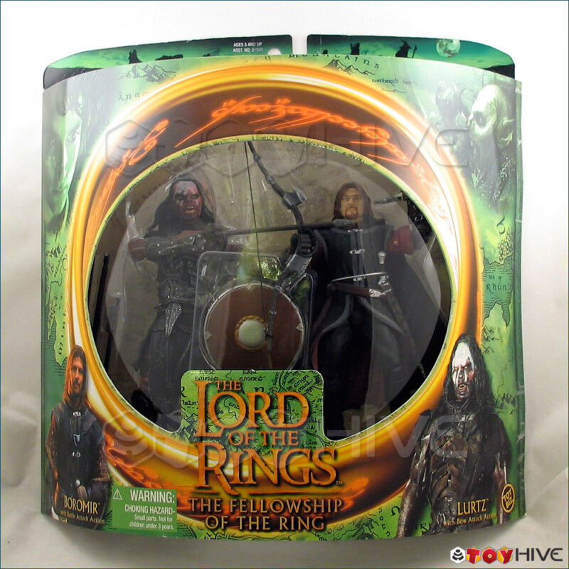 Lord of the Rings Fellowship of the Rings Boromir and Lurtz Set LOTR