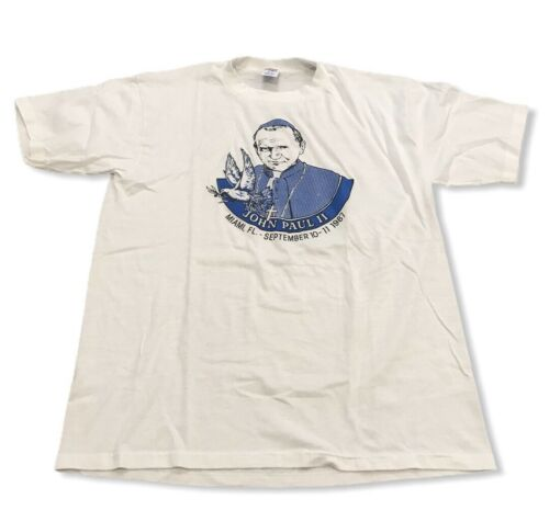 Vintage Pope John Paul II 2 Miami FL Rome T-Shirt