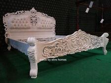 6' SUPER BIANCO KING SIZE Francese Stile Barocco Louis... Alta qualità Rococò letto