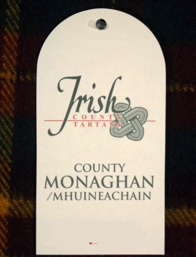 Ireland County Pure Wool Neck Tie in Irish County Monaghan Tartan