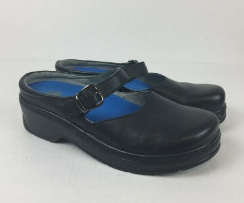 9m comfortabele 951 Klogs dames lederen antislip marking schoenen Sz zwart niet hQdCsxrt
