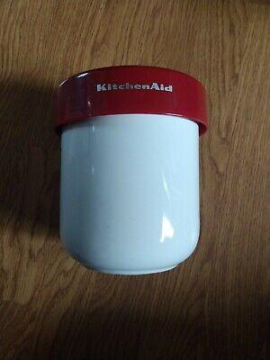 Kitchenaid White Ceramic Kitchen Utensil Holder W Signature Red Top Divider Ebay