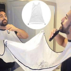 Men-039-s-Facial-Hair-Trimmings-Catcher-Beard-Whiskers-Bib-Shaving-Apron-Cape-Cloth