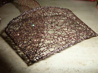��Christmas Bronze 63mm Wide Glitter Lace Wired Edged Ribbon Decorations Bows��