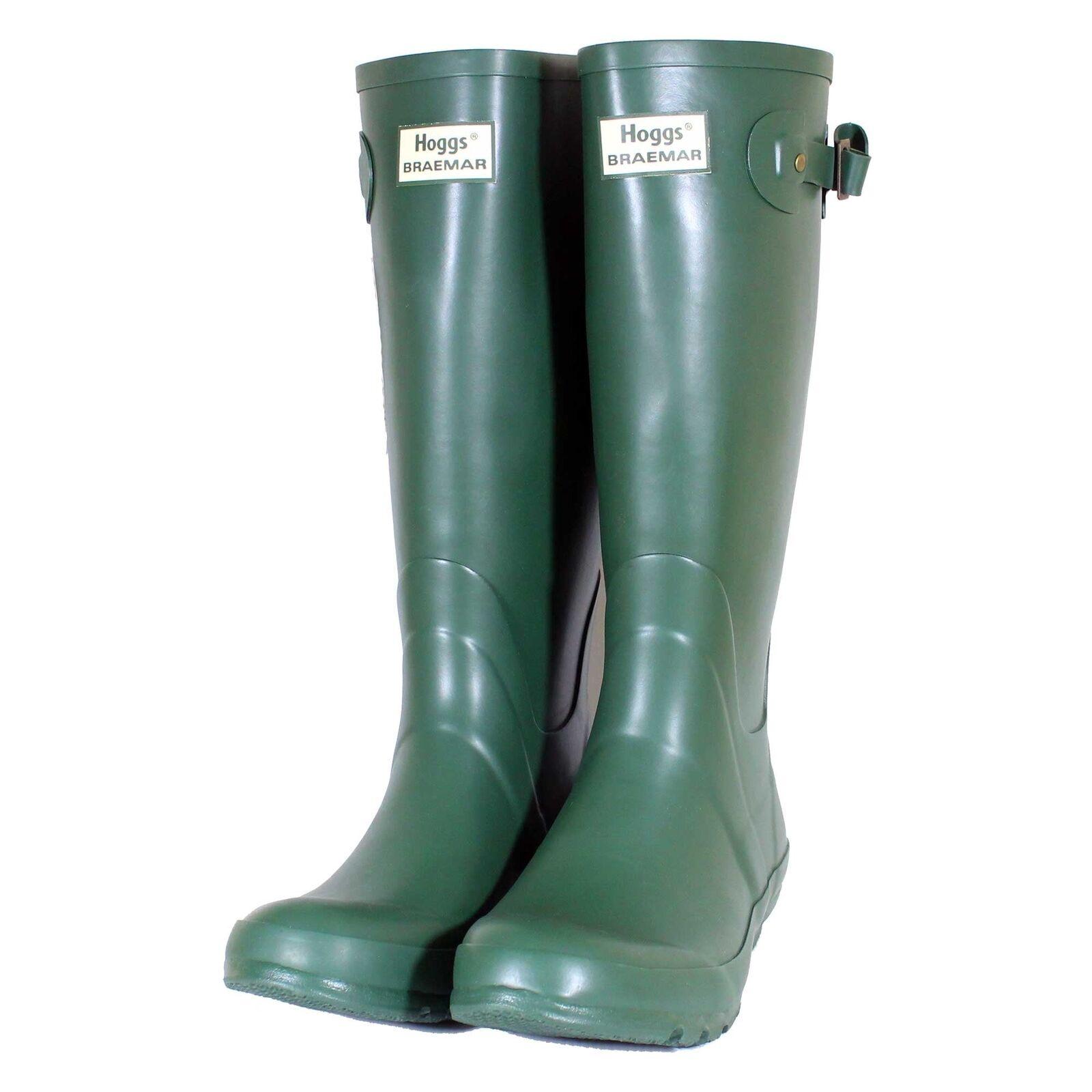 Hoggs Braemar Wellington botas verde (tamaños Reino Unido)