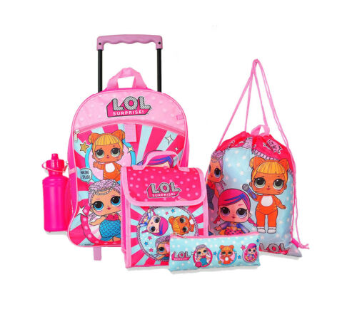 """NEW Girls LOL Surprise  16/"""" Backpack with Insulated Lunch Bag accessorre"""