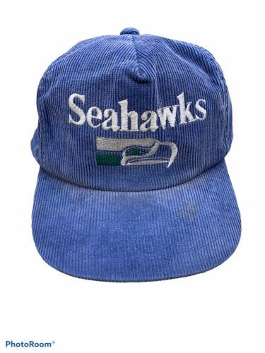 Vtg Seattle Seahawks Corduroy Snapback Vintage 90s
