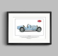 Bugatti Type 35B Limited Edition Fine Art Print A3 size