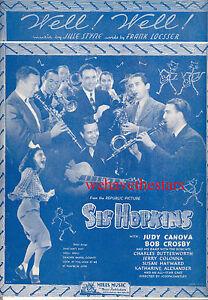 """Antiquarische Noten/songbooks Gut !"""" Judy Canova Bob Crosby Jule Styne Sis Hopkins Notenblatt """" Gut"""