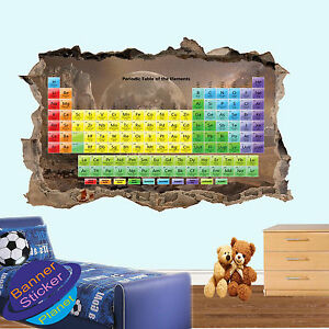 Details About Periodic Table Educational Chemistry 3d Wall Stickers Room Decor Decal Mural Yt2