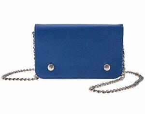 Details about NWT LONGCHAMP Le Foulonne Wallet WOC Leather Crossbody Bag  Blue $400+ AUTHENTIC