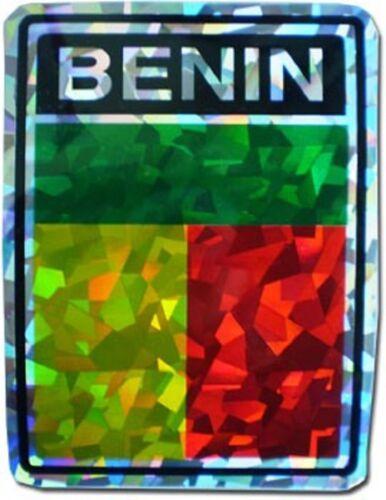 Benin Country Flag Reflective Decal Bumper Sticker