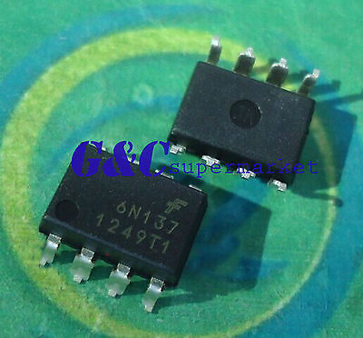10PCS NEW 6N137 DIP8 FSC ISOLATOR 2.5KVRMS 1CH OPEN NEW