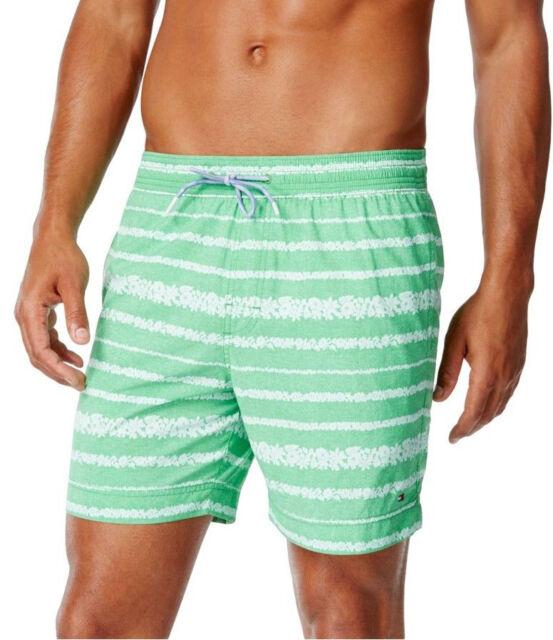 010fdc6026 New Mens Tommy Hilfiger Coolidge Floral Print Stripe Swim Trunks Shorts XXL