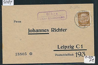 VertrauenswüRdig 91184 Dr > Ddr Landpost Ra2 Bibra über Meiningen Ds 1936