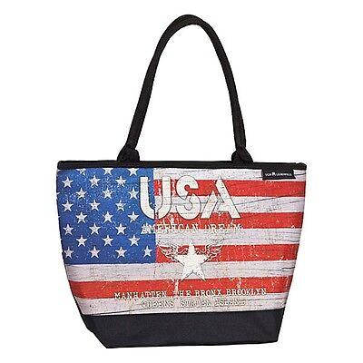 Borsa Henkel Borsa Shopper Da Donna Grande Arte Motivo Bandiera America Vintage Usa-mostra Il Titolo Originale