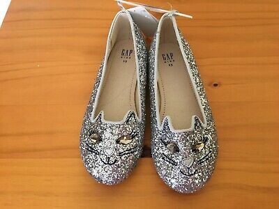 NWT Gap Sparkle Kitty Shoes Flats Cat Dress Shoes Girls