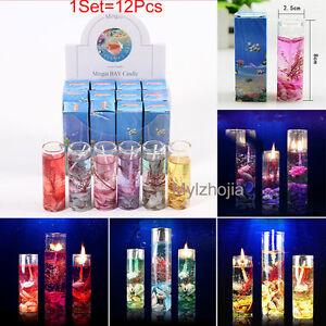 1Set-12X-Glass-Bottles-Ocean-Smokeless-Jelly-Wax-Wedding-Gel-Candles-Showy-Gift
