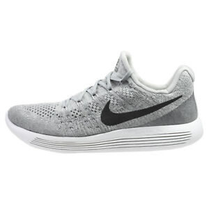6f8514b3f9bb Nike Lunarepic Low Flyknit 2 Mens 863779-002 Wolf Grey Running Shoes ...