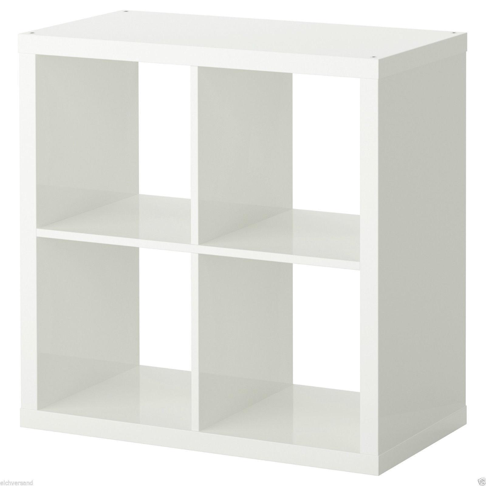 IKEA KALLAX Regal HOCHGLANZ Rot Weiss 4 Fach Tür Schublade