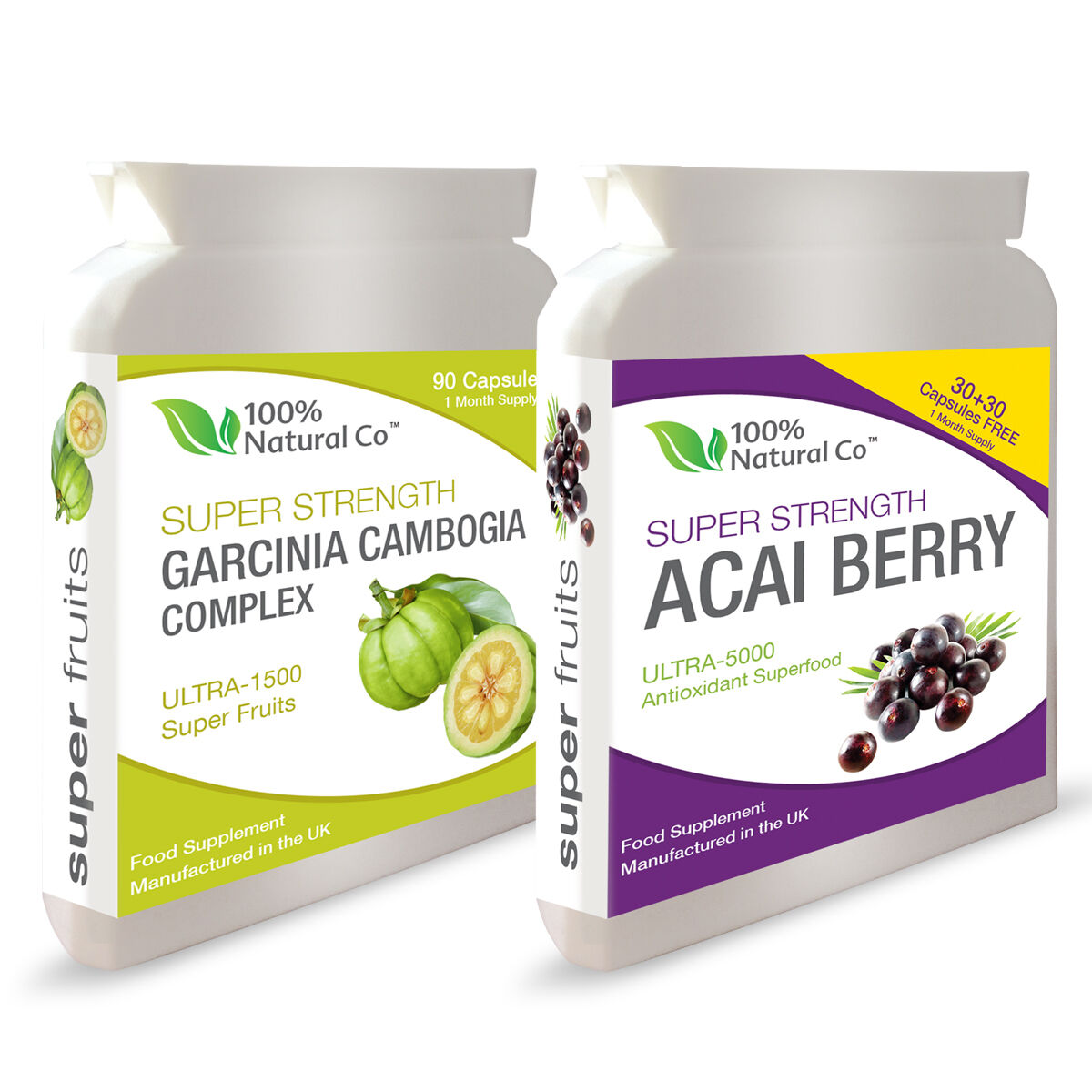 Double Value Pack Acai Berry And Garcinia Cambogia Fruit Weight Loss Diet Pills