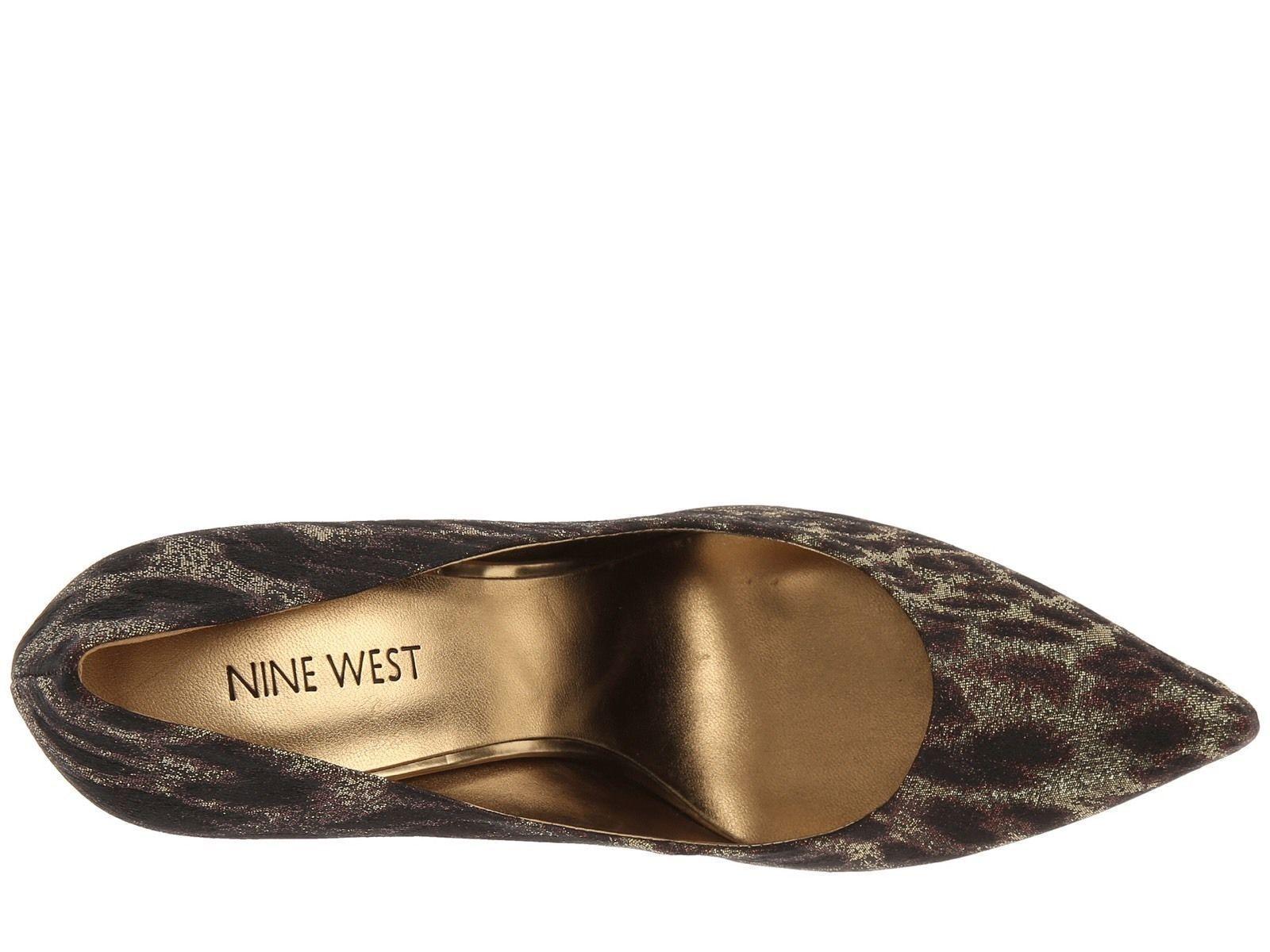 Nine West Flax Bronze Gold Animal Heal Classics Heal Animal Pointy Toe Pump Schuhes 7 M USA 8ce960