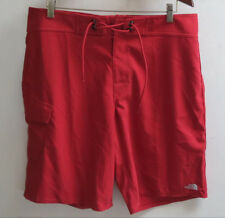 The North Face M Class V Stretch UPF 50 Boardshorts Board Shorts 38 Red