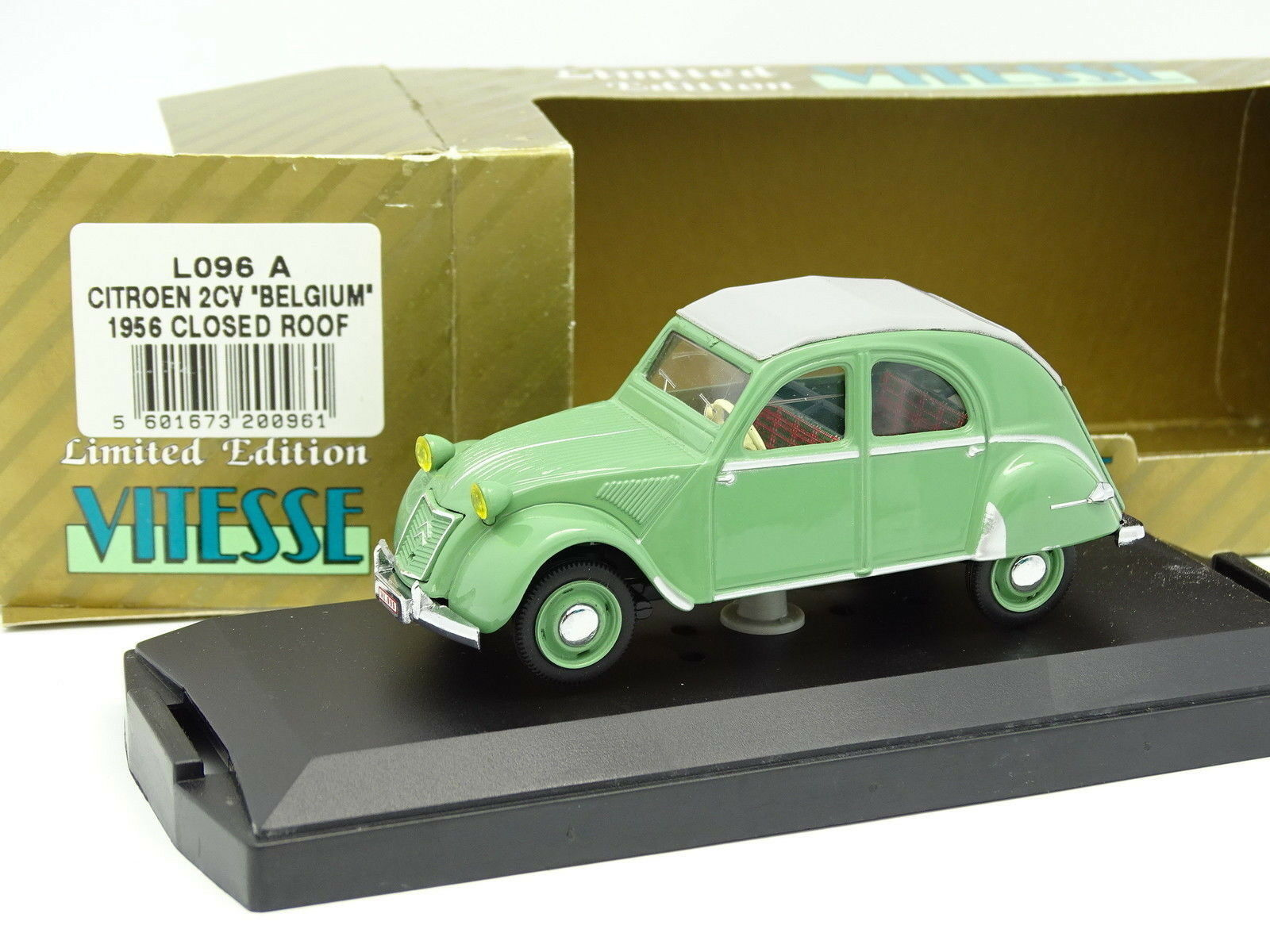 Vitesse 1 43 - Citroen 2CV Belgium Verte Closed Roof 1956