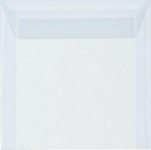 Briefumschläge 25 St.Transparent Weiß haftklebend 18 x 18 cm 180 x 180 mm