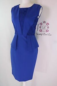 Antonio Melani Leigh Crepe Lace Dress Blueprint Size 0 2 6 8 14 New