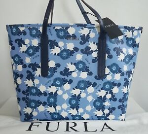 34a4fe5f15d6 Image is loading NEW-Authentic-FURLA-ARIANA-Medium-Floral-Print-100-