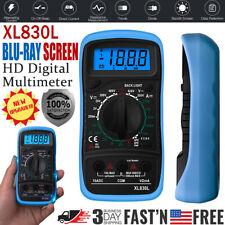 Digital Multimeter Voltmeter Ammeter Ohmmeter Ac Dc Volt Tester Meter Xl830l Usa