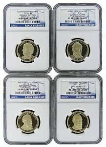 2016 S PRESIDENTIAL DOLLAR 3 COIN SET NGC PF69 EARLY RELEASES WITH BLUE LABEL
