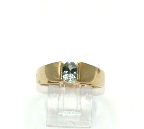 Aquamarine Gold Ring Aquamarine 375er Gold #62