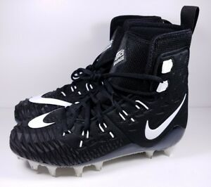 1d68bb8d208 Nike Size 8.5 Football Cleats Force Savage Elite TD Black White 857063-011