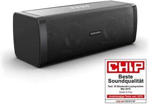 DOCKIN D Fine Bluetooth Lautsprecher 50W Stereo Powerbank Wasserschutz 10 h Akku