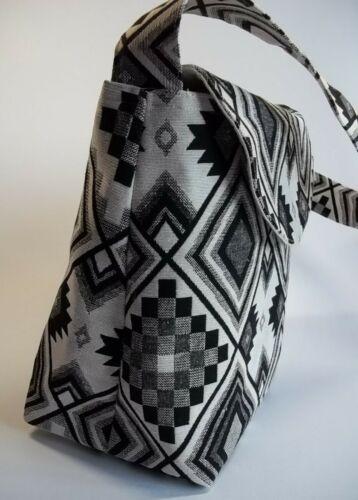 Pockets Bespoke Handmade Black /& White Handbag Unique Present or Just For You