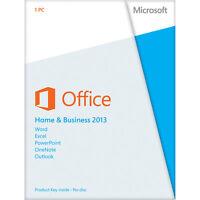 Microsoft Office 2013 Home And Business - Lizenz für 1 PC, Vollversion #053-2010