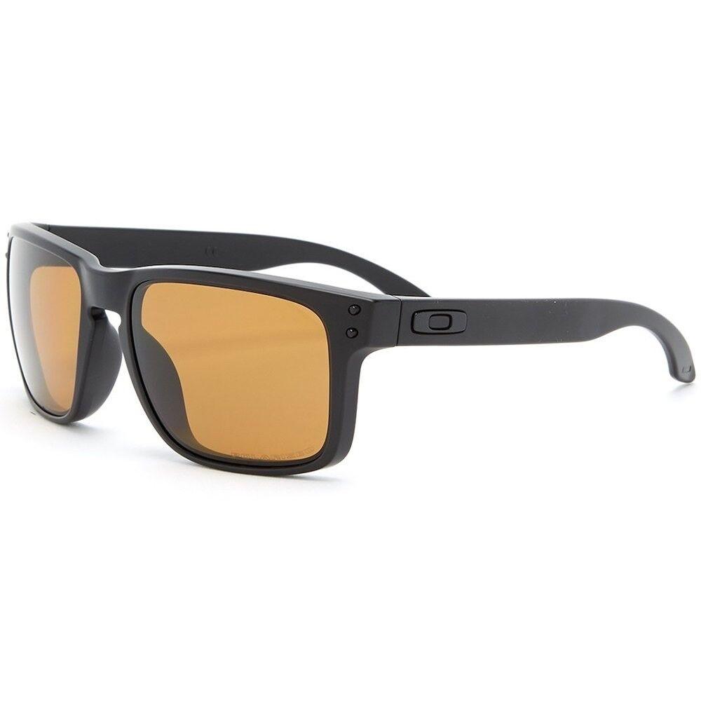 a5c5f9f8f1 Oakley Men s Holbrook Polarized Rectangular Sunglasses Matte Black for sale  online