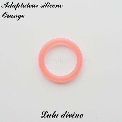 Adaptateur en silicone rond pour tétine et création attache tétine Orange