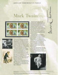 874-Forever-Mark-Twain-4545-USPS-Commemorative-Stamp-Panel