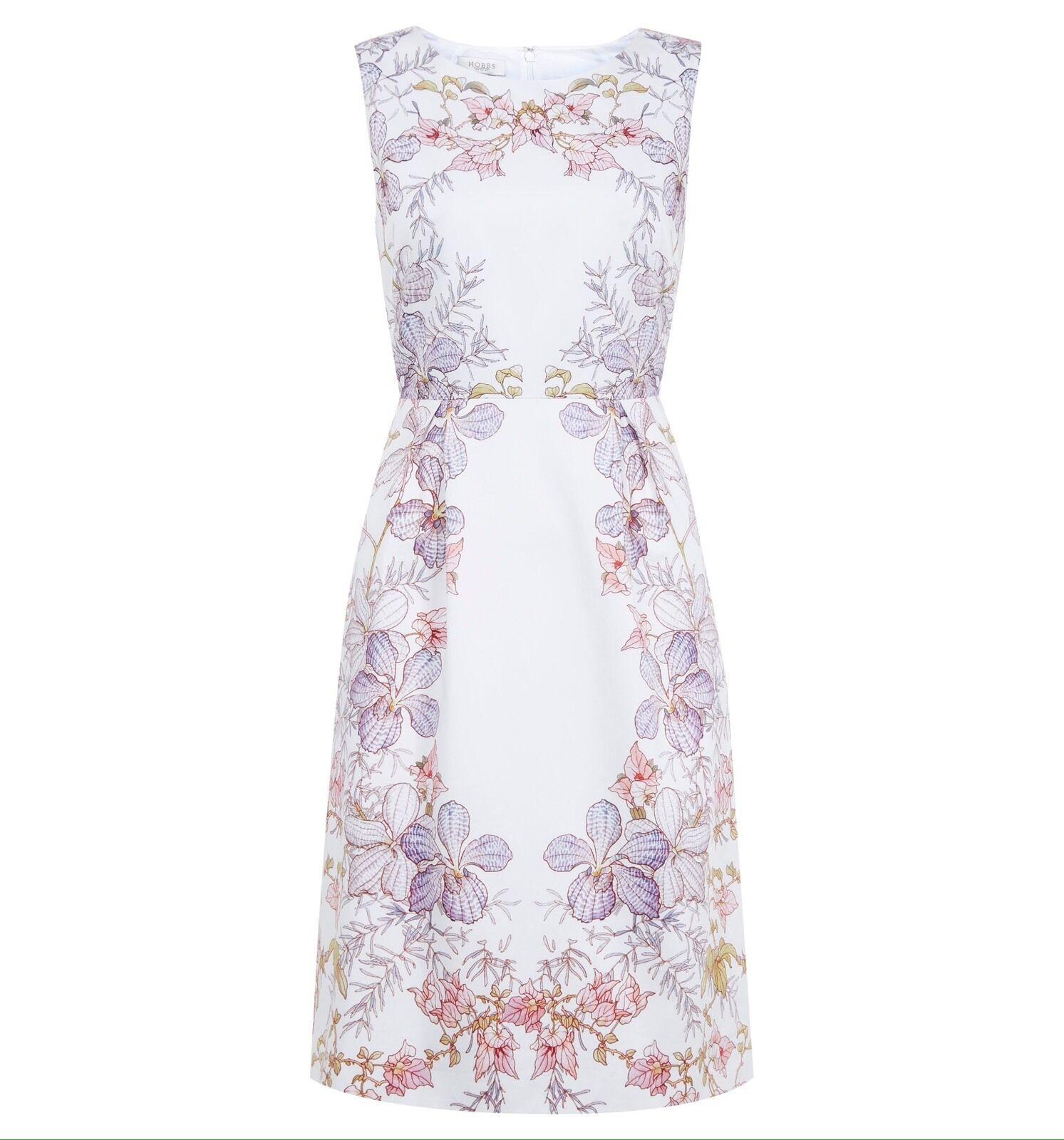 HOBBS 'BOTANICAL' WHITE FLORAL DRESS