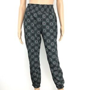 Details About Aerie Womens Jogger Pants Gray Skinny High Rise Ankle Boho Festival Size Small