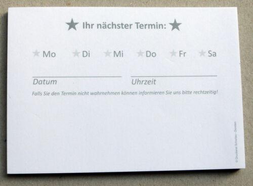 Universal-Terminblöcke Terminblock Nr.4 Terminzettel Praxis Studio Ärzte Frisör
