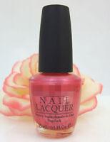 OPI Nail Polish Lacquer Miami Spice .5 oz Coral Salmon Pink Shimmer South Beach