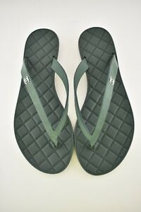 596bc06494abc8 NIB Chanel Green Quilted Suede Leather CC Sport Beach Thong Sandal ...